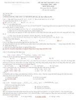 Đề và đáp án thi thử đại học môn hóa lần 3 Chuyên Hạ Long pdf