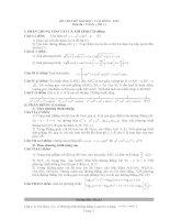 Đề thi thử đại học, cao đẳng môn Toán - đề 1 docx