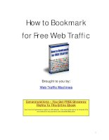 How to Bookmark for Free Web TrafficBrought to you by: Web Traffic Machines pdf