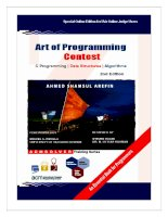 ART OF PROGRAMMING CONTEST potx