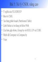 Bài giảng Client/Server - Chương 5: Xử lý CSDL nâng cao pdf