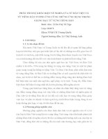 BÁO CÁO KHOA HỌC: PHÂN TÍCH SỰ KHÁC BIỆT VỀ NGHĨA CỦA TỪ HÁN VIỆT VÀ TỪ TIẾNG HÁN TƯƠNG ỨNG CÙNG NHỮNG ỨNG DỤNG TRONG GIẢNG DẠY TỪ VỰNG TIẾNG HÁN potx
