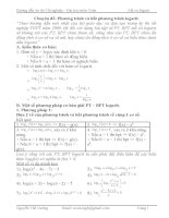 Chuyên đề: Phương trình và bất phương trình logarit pptx