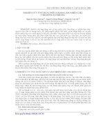 Báo cáo khoa học: Nghiên cứu ứng dụng mỡ cá basa làm nhiên liệu cho động cơ DIESEL pdf