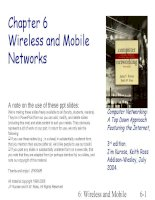 Computer Networking: A Top Down Approach Featuring the Internet - Chapter 6 Wireless and Mobile Networks pot