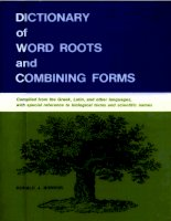 Dictionary of word roots and combining form pot