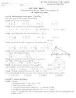 Kì thi tuyển sinh môn toán vào lớp 10 2008 - 2009 potx