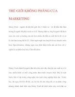 THẾ GIỚI KHÔNG PHẲNG CỦA MARKETING pdf