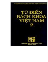 Từ điển bách khoa Việt Nam 2_P1 ppt