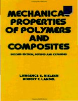 Nielsen. Lawrence E. Mechanical properties of polymers and composites nielsen doc