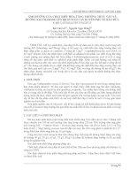 Báo cáo khoa học: Ảnh hưởng của chất điều hòa tăng trưởng thực vật và đường saccharose lên dịch nuôi cấy huyền phù tế bào dừa cạn catharanthus roseus. pdf