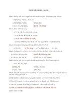 Bài tập trắc nghiệm môn hóa học chương 1 doc