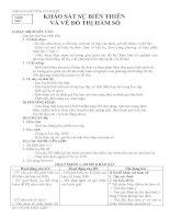 GIÁO ÁN GIẢI TÍCH 12 CƠ BẢN - KHẢO SÁT SỰ BIẾN THIÊN VÀ VẼ ĐỒ THỊ HÀM SỐ docx
