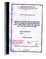 Luận văn thạc sĩ khoa học: Nghiên cứu đề xuất giải pháp nhằm hoàn thiện hoạt động xúc tiến bán đối với các dịch vụ viễn thông - tin học của tập đoàn bưu chính viễn thông Việt Nam doc