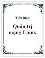 tiểu luận  quản trị mạng linux