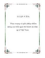 LUẬN VĂN: Thực trạng và giải pháp nhằm nâng cao hiểu quả thi hành án dân sự ở Việt Nam ppt