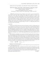 Báo cáo khoa học: Khảo sát sự tạo mixel của một số Copolyme Pluronic ppt