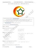 Bài tập ôn thi học kỳ 2 môn toán lớp 10 ppt