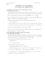 Luận văn báo cáo thí nghiệm vật lý : nghiên cứu dao động của con lắc trọng lực ppt