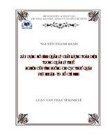Đề tài: Xây dựng mô Trang 3 hình quản lý chất lượng toàn diện trong quản lý thuế - Nghiên cứu tình huống Chi cục Thuế quận Phú Nhuận, Tp. Hồ Chí Minh pdf
