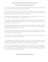 ÔN TẬP VỀ GIẢI TOÁN BẰNG CÁCH LẬP PT - HPT : GIẢI BÀI TOÁN CHUYỂN ĐỘNG TRÊN SÔNG potx