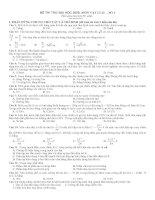 Đề thi đại học năm 2009 môn vật lý - đề số 1 pdf