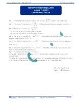 Bài tập tự luyện : Tiếp tuyến với đồ thị hàm số pptx