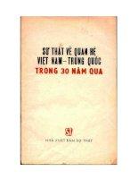 Sự thật về quan hệ Việt Trung trong 30 năm qua pdf