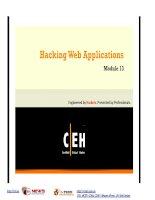 Module 13 - Hacking Web Applications pptx
