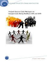 Project Source Code Manager on Google Code Using NetBean IDE and SVN doc