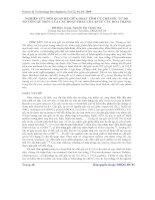 Báo cáo khoa học: Nghiên cứu mối quan hệ giữa hoạt tính ức chế gốc tự do NO với cấu trúc của các hoạt chất cô lập từ cúc hoa trắng docx