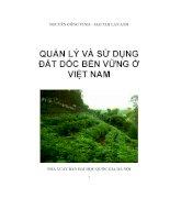Quản lý và sử dụng đất dốc bền vững ở Việt nam pot