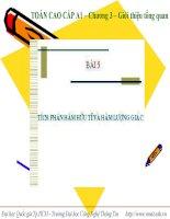 Bài 5: Tích phân hàm hữu tỉ và hàm lượng giác docx