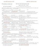 ĐỀ THI TUYỂN SINH ĐẠI HỌC 2010 MÔN HOÁ HỌC - ĐỀ THI THAM KHẢO TRƯỜNG THPT HÀ BẮC potx