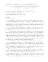 BÁO CÁO KHOA HỌC:SỬ DỤNG CÂU HỎI HIỆU QUẢ CAO TRONG DẠY HỌC VẬT LÝ ÁP DỤNG CHO BÀI LĂNG KÍNH VÀ THẤU KÍNH MỎNG CHƯƠNG TRÌNH VẬT LÝ 11 BAN CƠ BẢN ppt