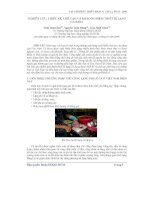 Báo cáo khoa học: Nghiên cứu, thiết kế, chế tạo và khảo nghiệm thiết bị lạng cá basa pot
