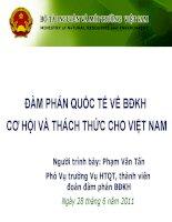 Hội thảo quốc tế về biến đổi khí hậu cơ hội và thách thức cho Việt Nam doc
