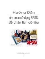 Hướng dẫn làm quen sử dụng SPSS để phân tích dữ liệu ppt