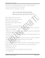 ĐỀ CƯƠNG CHI TIẾT HỌC PHẦN THỊ TRƯỜNG TÀI CHÍNH pdf