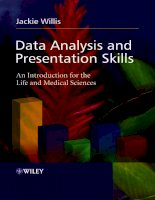 Data Analysis and Presentation Skills an intro for the life and med sciences j willis wiley potx