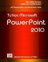 GIÁO TRÌNH MICROSOFT POWERPOINT 2010 - ThS. Đỗ Trọng Danh ThS. Nguyễn Vũ Ngọc Tùng ppt