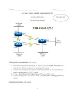 CCNA1 SKILL BASED EXAMINATION - Number 10 ppt