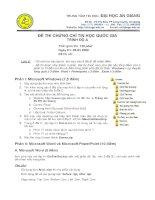ĐỀ THI CHỨNG CHỈ TIN HỌC QUỐC GIA TRÌNH ĐỘ A 2009 - ĐH AN GIANG pot