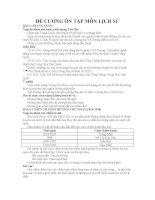 ĐỀ CƯƠNG ÔN TẬP MÔN LỊCH SỬ - BÀI 3: TRUNG QUỐC pdf