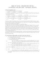 HỌC TỪ VỰNG – LỜI KHUYÊN CHUNG ( LEARNING VOCABULARY – GENERAL ADVICE) doc