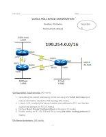 CCNA1 SKILL BASED EXAMINATION - Number 6 ppt