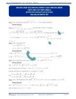 Phương pháp giải phương trình và bất phương trình chứa 1 căn thức ( phần 1 ) pptx