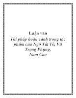 Luận văn: Quan niệm nghệ thuật về hoàn cảnh của Nguyễn Minh Châu trong tập truyện Chiếc thuyền ngoài xa ppt