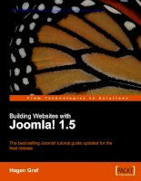 Building Websites with Joomla! 1.5: The best-selling Joomla! tutorial guide updated for the latest 1.5 release potx