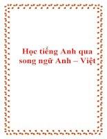 Học tiếng Anh qua song ngữ Anh – Việt pptx